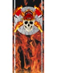 Bed Stripe Fireman Skulls