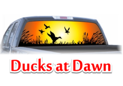 Ducks at Dawn View Thru Window Graphic
