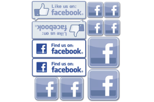 Facebook decal set