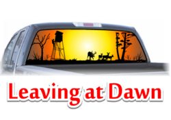 Leaving at Dawn View Thru Window Graphic