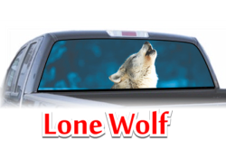 Lone Wolf View Thru Window Graphic
