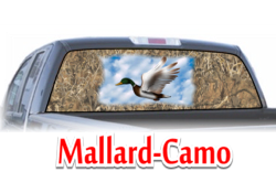 Mallard-Camo View Thru Window Graphic