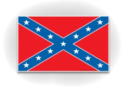 Rebel Flag Decal (3x5)