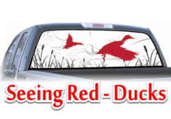 Seeing Red Ducks View Thru Window Graphic