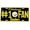 Steelers #1 fan auto tag