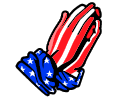 Flag Praying Hands