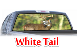 White Tail View Thru Window Graphic