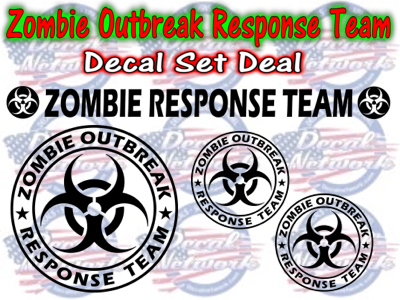 Zombie Outbreak Response Team decal set