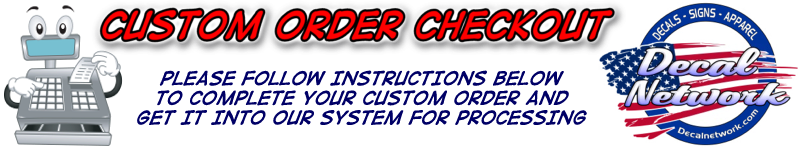 Custom Order Checkout