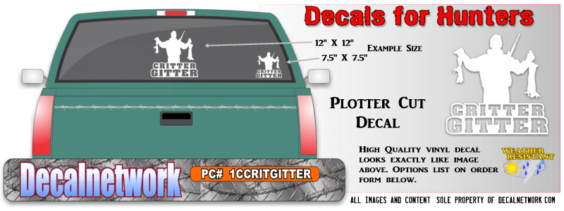 Critter Gitter decal