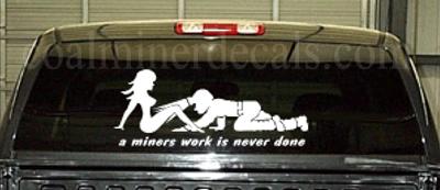 Crawling Coal Miner Vinyl Decal