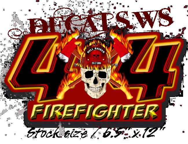 4x4 Firefighter Skull