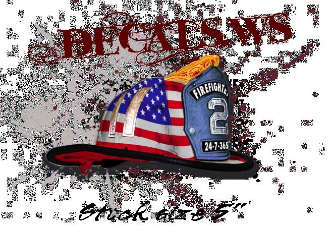 Fireman Helmet American Flag