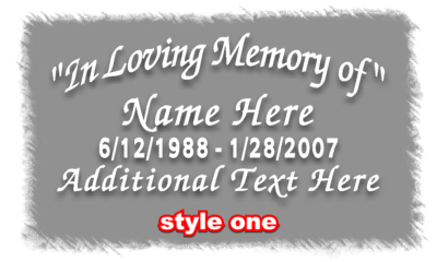 In Loving Memory Style1