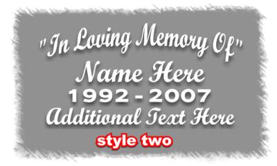 In Loving Memory Style2