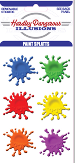 Paintball splat decals