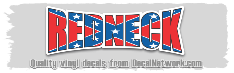 Redneck-Flag Decal