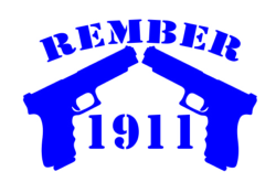 Remember 1911 decal