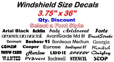 Url - Windshield Decals