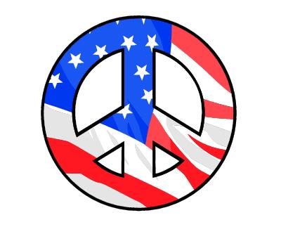 Flag Peace Sign
